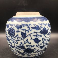 Jar (1) - Blue and white - Porcelain - China - 18th century