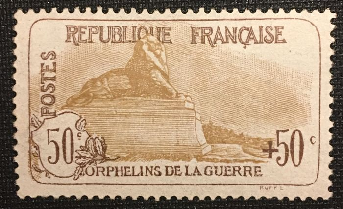 France 1914/1917 - For the benefit of war orphans. - Yvert 153