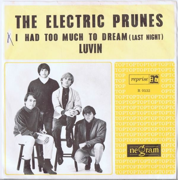 """The Electric Prunes (Garage Rock, Psychedelic Rock) - I Had Too Much To Dream (Last Night) / Luvin' - 45 RPM 7 """"Single met Picture Sleeve - 1966"""