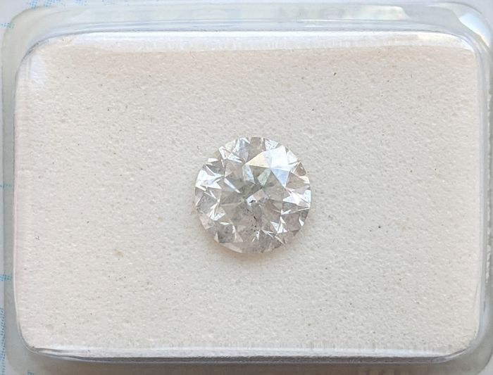 Diamant - 0.93 ct - Brillant - F - SI3, No Reserve Price