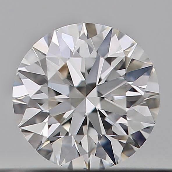 1 pcs Diamant - 0.23 ct - Brillant - E - VVS2, ***Heart & arrows*** no reserve