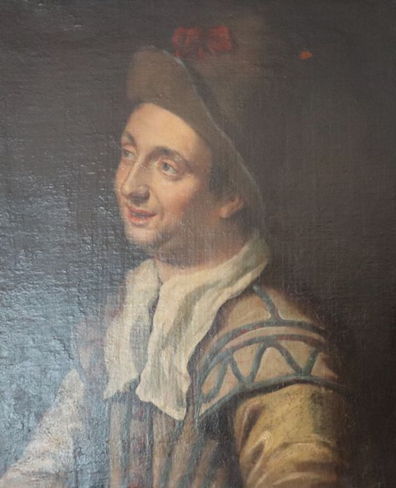 French school XVIIIth, In the style of Claude Gillot - Boy portrait