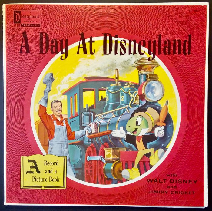 "Walt Disney - Record and Picture Book - ""A Day At Disneyland"" (1958)"