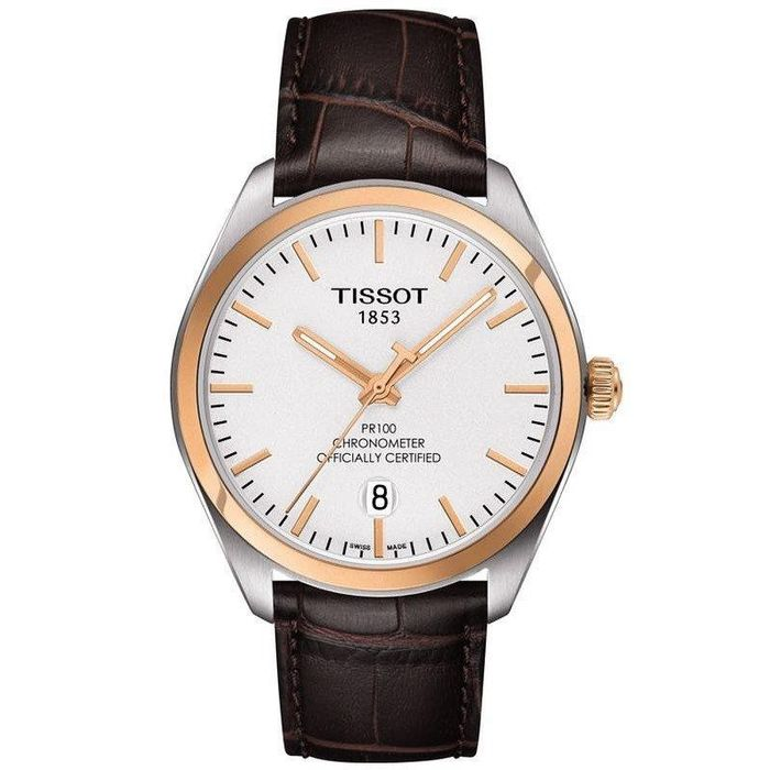 "Tissot - PR 100 Date COSC Certified Leather Strap ""NO RESERVE PRICE"" - T1014512603100 - Herren - Brand New"