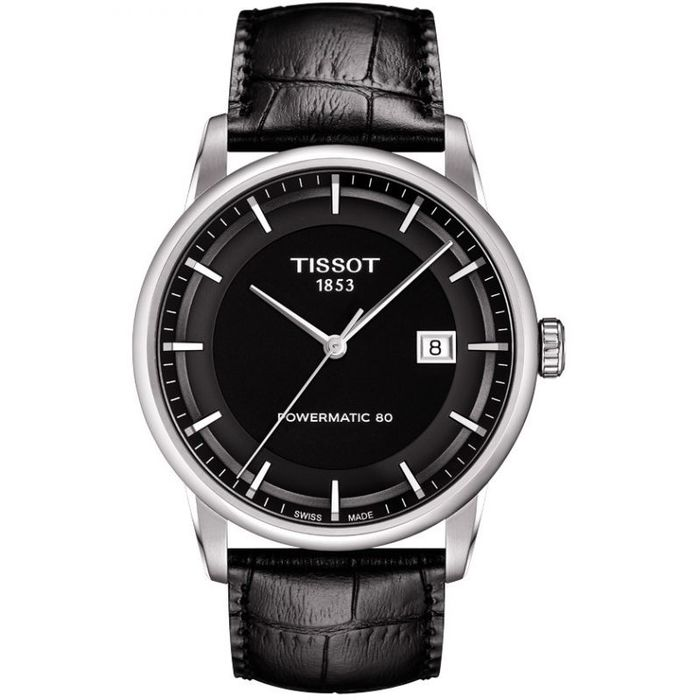 """Tissot - T-Classic Luxury Collection Powermatic 80 Black Leather Strap """"NO RESERVE PRICE"""" - T0864071605100 - Herren - Brand New"""