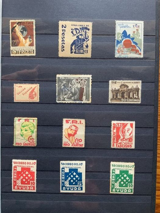 Spanien 1936/1939 - Great collection of Spanish Civil War stamps