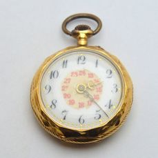 "Antique - 18 kt. Yellow Gold pocket watch ""NO RESERVE PRICE"" - Unisex - 1901-1949"