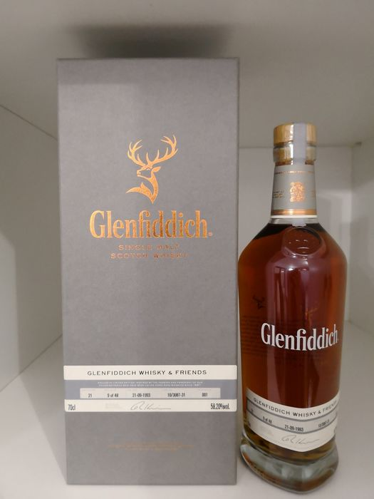 Glenfiddich 1993 21 years old Glenfiddich Whisky&Friends  - Cask no. 10/3087-31 - bottle no. 9 of 48 - Original bottling - 70cl