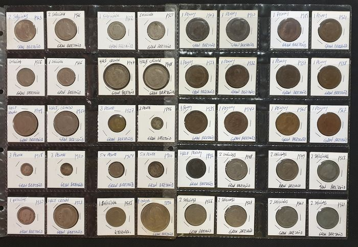 Great Britain. Lot various coins 1896/1975 (40 pieces)