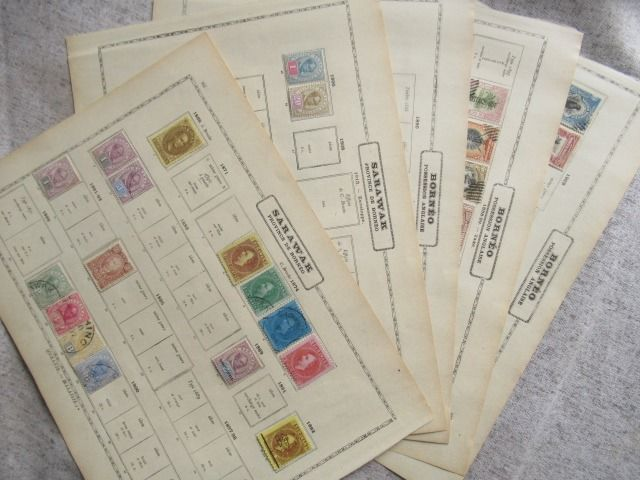 Borneo - English Possession, collection of stamps