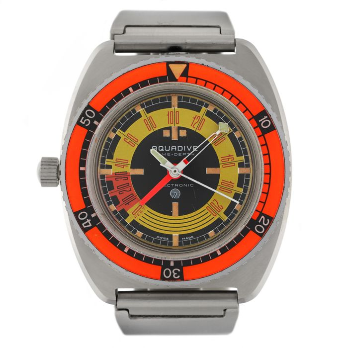 "Aquadive - Pre-production ""Time-Depth"" Electronic, Cal. ESA 9154 - Homme - 1970-1979"
