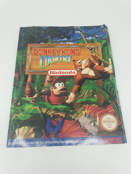 Nintendo SNES  - DONKEY KING COUNTRY - 1994 Super NES - Official Strategy Guide - Objet rare