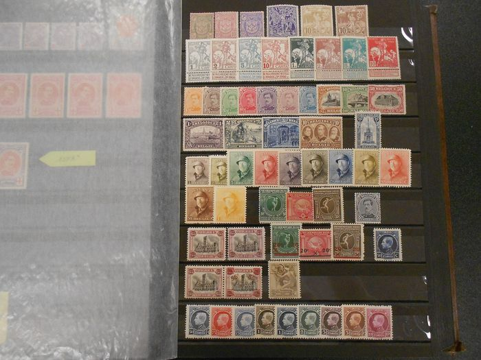 Belgium - Collection on stock pages - OBP / COB Tussen 68/70 & 532/537