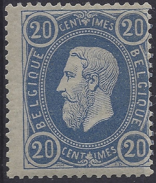Belgium - Effigy of Leopold II - COB 31A perorated 15 - MNH -Cert. KAISER with 2 small chips in the gum