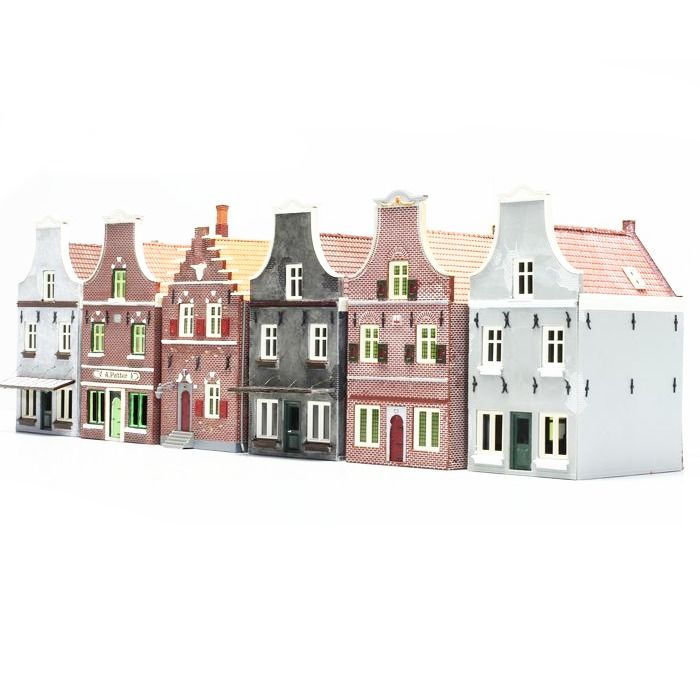 Holland Scale H0 - Décor - 6 maisons Holland Scale