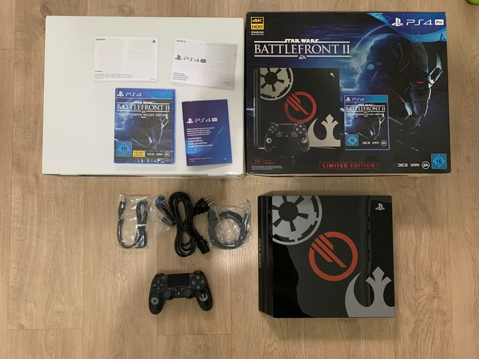 Sony Play Station 4 Pro Limited edition Star wars Battle Front Ii - Console avec jeux