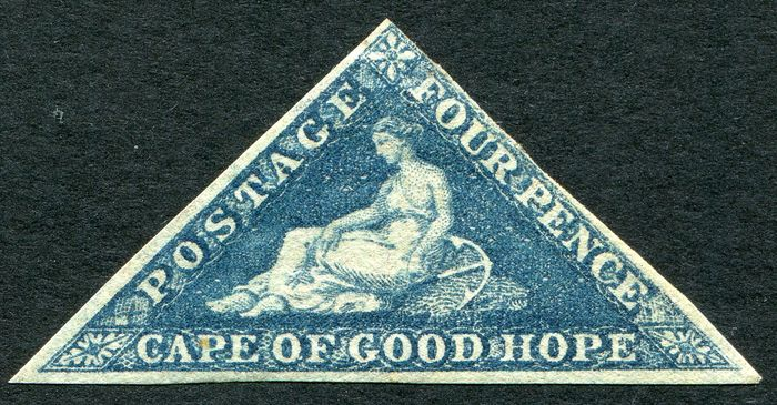 Etelä-Afrikka - South Africa Cape of Good Hope four pence imperf with watermark 2 - Stanley Gibbons
