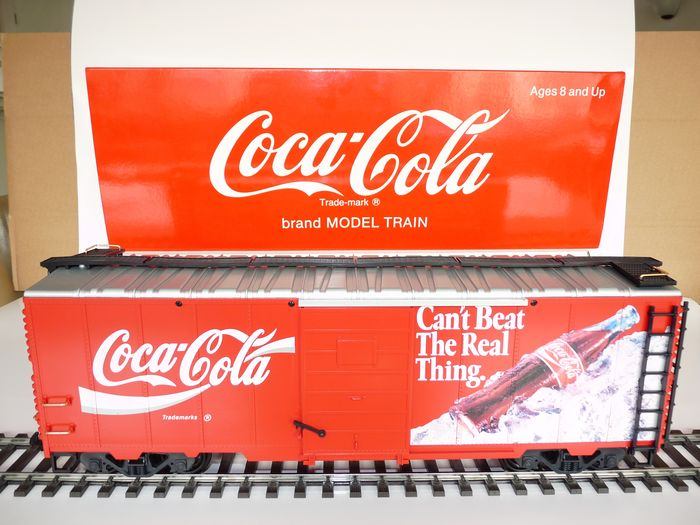 "Preview of the first image of LGB G - 42911 - Freight carriage - ""Coca Cola""."