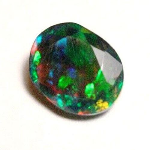 1 pcs Negro, multicolor Ópalo - 1.07 ct