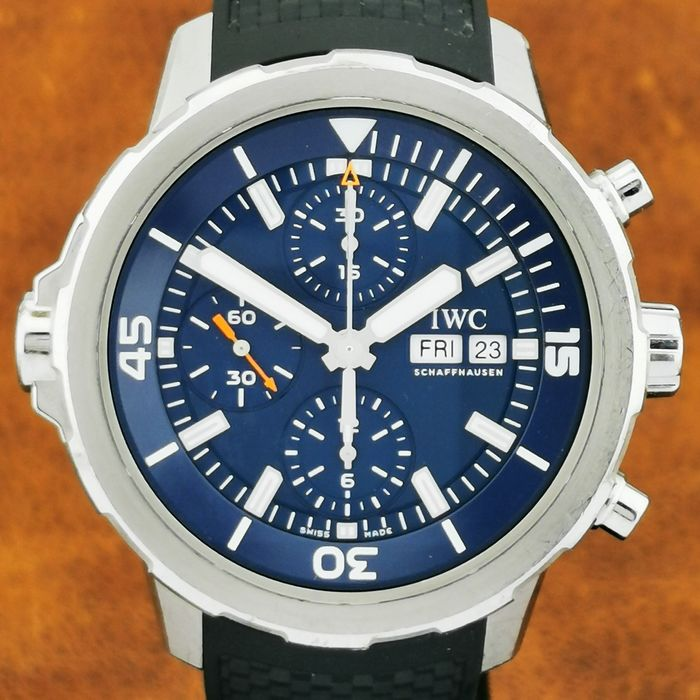 IWC - Aquatimer Chronograph Expedition Jacques-Yves Cousteau Day Date Blue Dial - Ref. IW3768 05 - Hombre - 2011 - actualidad