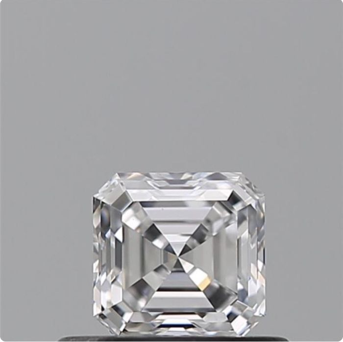1 pcs Diamante - 0.42 ct - Esmeralda cuadrada - D (incoloro) - VS1