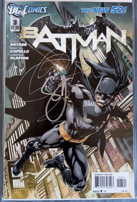 DC COMICS - New 52 Batman #3 1st TEAM Court Of Owls Key Issue signed by Scott Snyder 9.8 NM !!! - 1:25 Reis Variant
