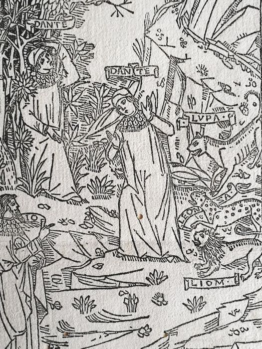 Page from the Divine Comedy - 1490