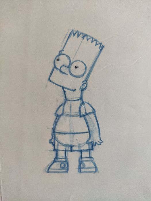 The Simpsons - Original Animation Art drawing - Bart - First edition (2006)