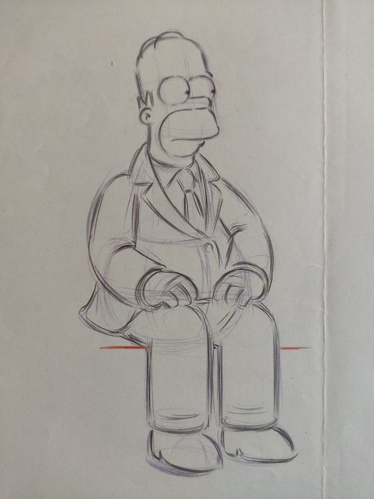The Simpsons - Original Animation Art drawing - Homer - First edition