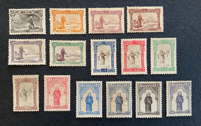 Portugal 1895 - 7th centennial of the birth of Saint Anthony. Complete set - Mundifil 111/125