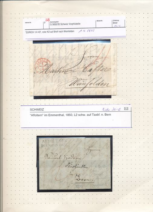 Schweiz 1854/1965 - Advanced collection in a Leuchturm album with many top stamps