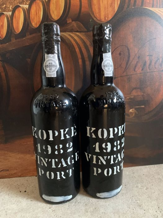 1982 Kopke Vintage Port - 2 Bottles (0.75L)