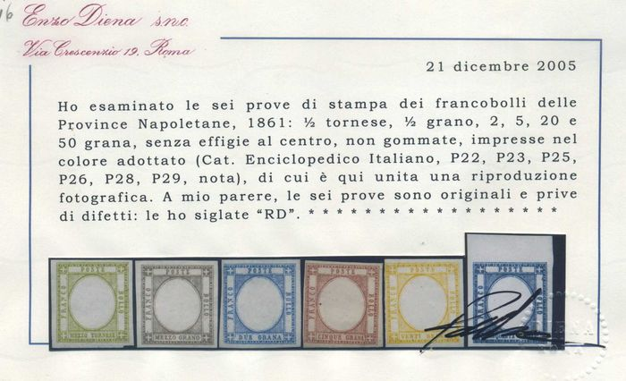 Napoleontische provincies - Proofs without effigy in the chosen colour. 6 val.