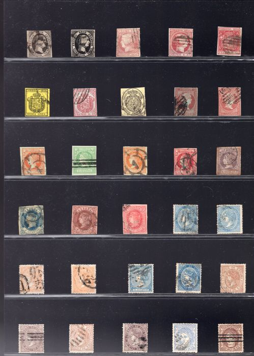 Spanje 1850/1970 - Selection of stamps of the period