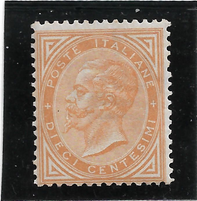 Italië 1863 - Kingdom De La Rue set, 10 cents ochre - Unificato 17