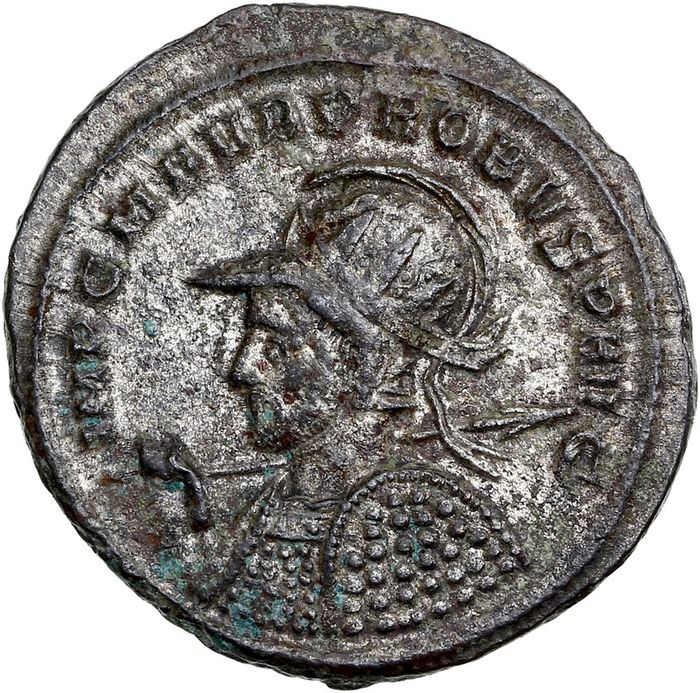 Roman Empire. Probus (AD 276-282). Silvered Æ Antoninianus,  Siscia, AD 277 - Mars advancing to right
