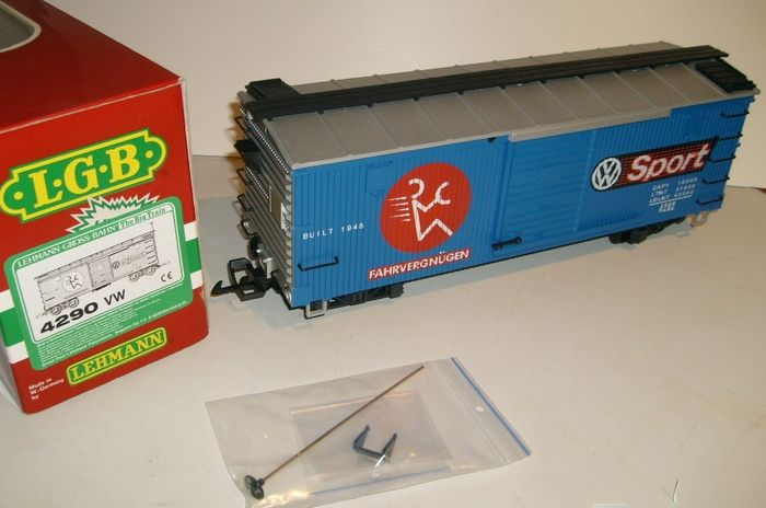 Preview of the first image of LGB G - 4290 VW - Freight carriage - Boxcar.