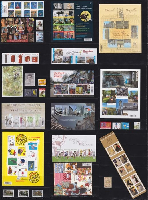 Belgique 2011 - Complete year of imperforate stamps, booklets and blocks