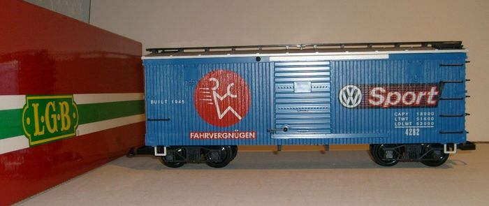 Image 2 of LGB G - 4290 VW - Freight carriage - Boxcar