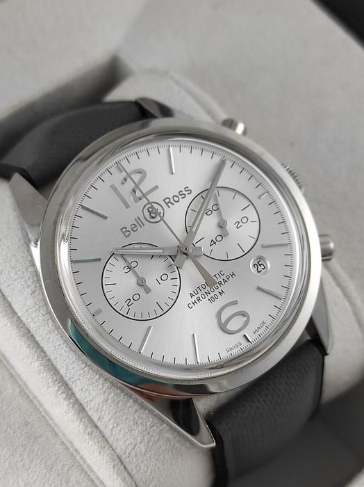 Bell & Ross - BR 126 Officer Silver Automatic Chronograph - BRG126-WH-ST/scr - Hombre - 2011 - actualidad