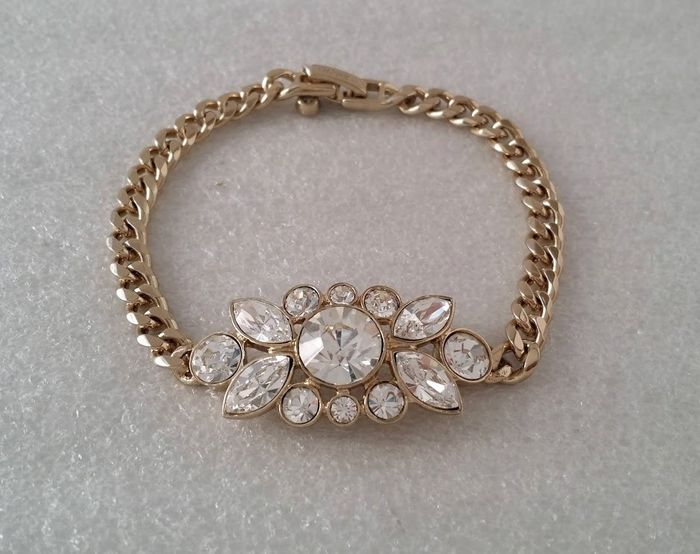 Givenchy - Clear Crystal Flower Chain - Bracelet