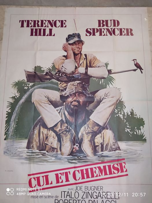 I'm for the Hippopotamus (1979) - Bud Spencer & Terence Hill - 1 - Póster, Original French Cinema release - 120x160 cm