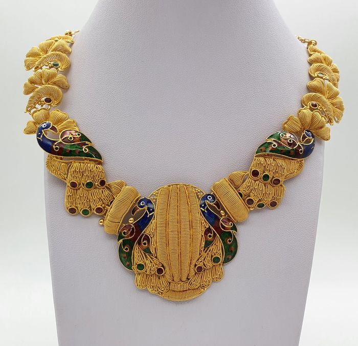 Preview of the first image of 22 kt. Yellow gold - Necklace.
