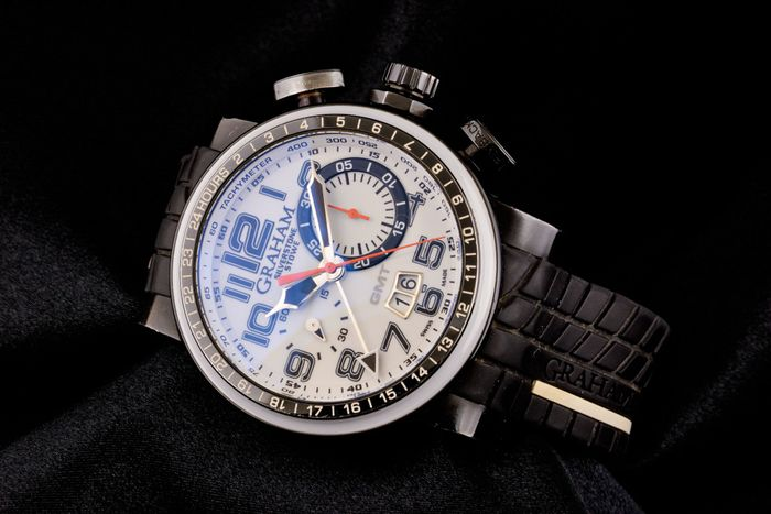 Graham - Silverstone Stowe GMT Chronograph Limited Edition - AN-2BLCD-1 - Homme - 2011-aujourd'hui