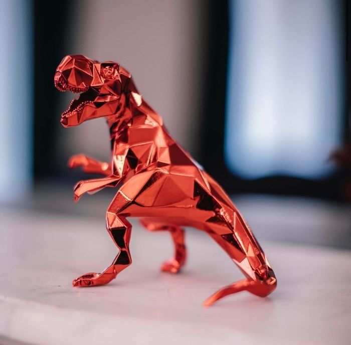 Preview of the first image of Richard Orlinski (1966) - T-Rex Spirit (Red Édition).