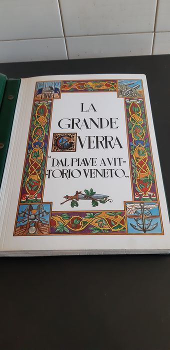 "Image 2 of Italy 1969 - Philatelic book with 62 pages (cm 35 x 28) ""La Grande Guerra dal Piave a Vittorio Vene"