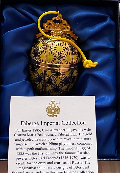 House of Faberge - Faberge-stijl Imperial Collection-ei (1) - Porselein