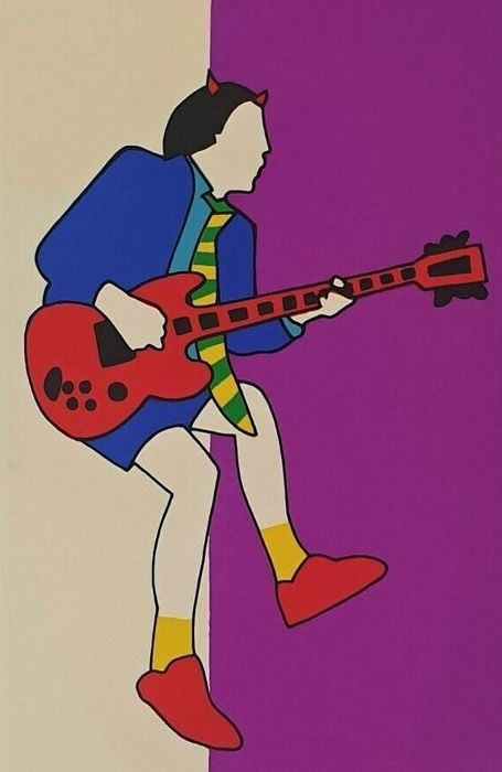 Marco Lodola (1955) - Angus Young   Amy Winehouse