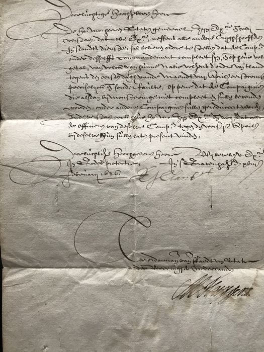 Image 2 of Maurits Huygens - letter on behalf of the Council of State to the Duke of Bouillon - 1626