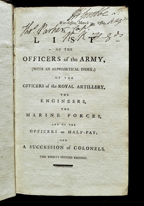 Image 2 of War Office - A List of the Officers of the Army, (with an Alphabetical Index;) of the Officers of t